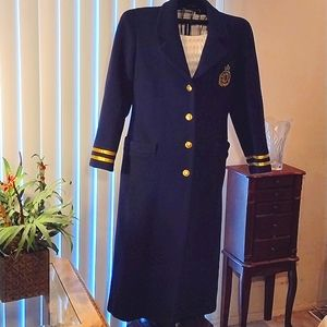 Christian Dior Vintage Military Coat w/ crest